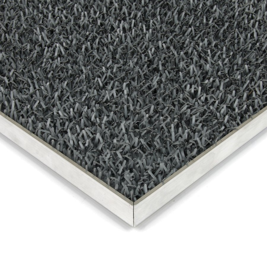 Šedá plastová vstupní univerzální čistící metrážová rohož Astra - šířka 91 cm a výška 1,8 cm