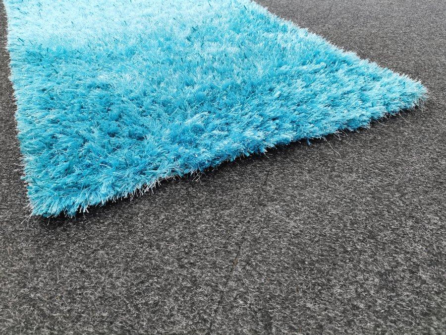 Modrý kusový moderní koberec Shine - délka 150 cm a šířka 80 cm