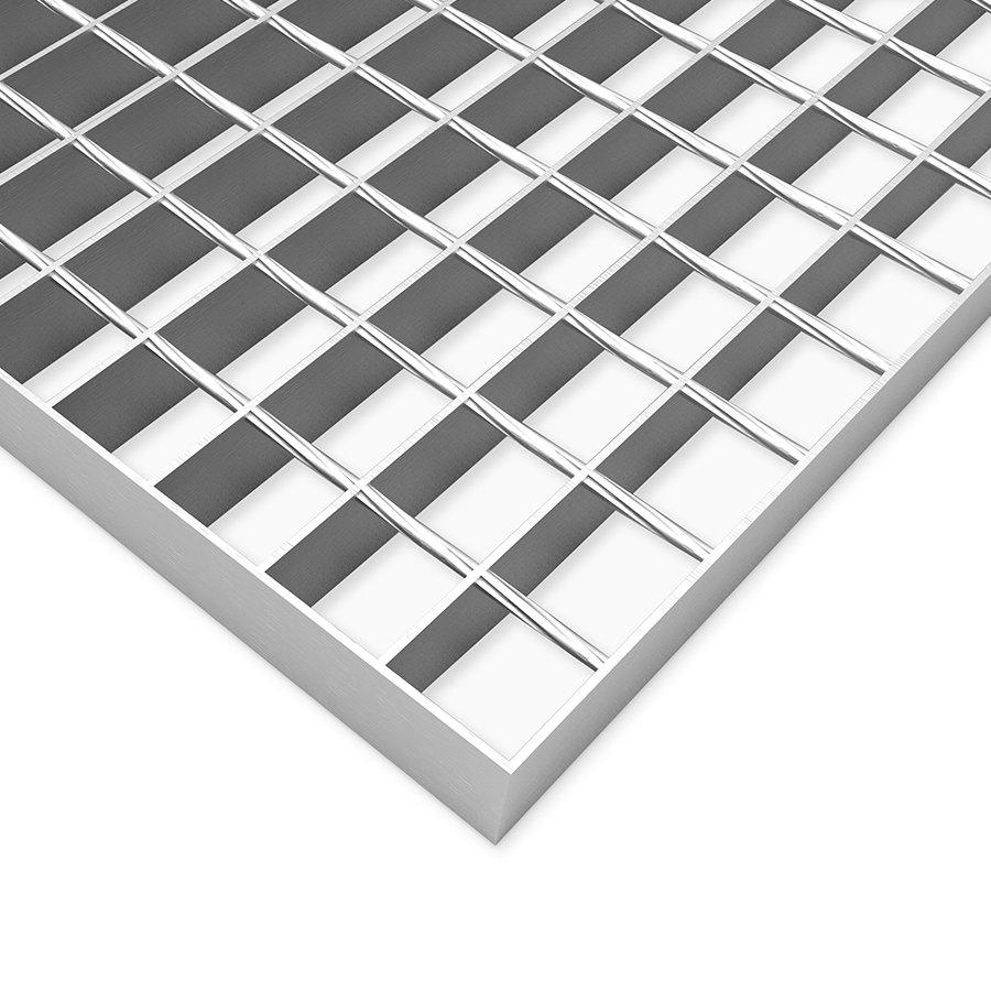Ocelový podlahový pozinkovaný svařovaný rošt - šířka 100 cm a výška 3 cm