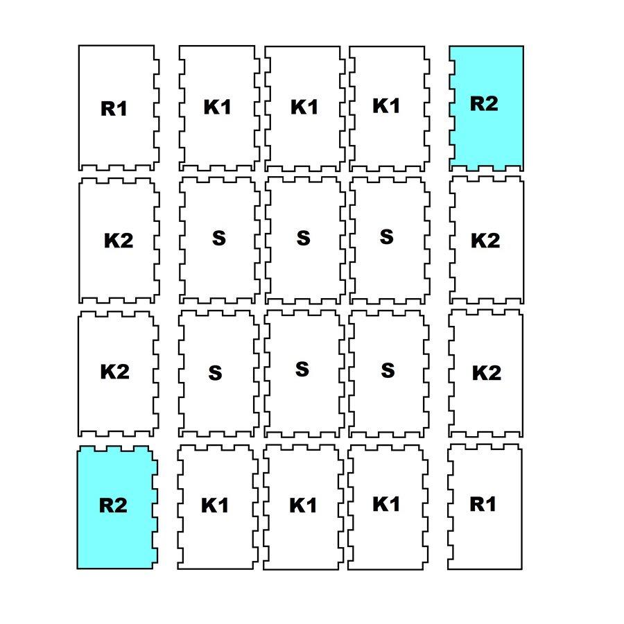 """Pryžová stájová protiskluzová modulární deska """"ROH-R2"""" - délka 197 cm, šířka 118,5 cm a výška 1,6 cm"""