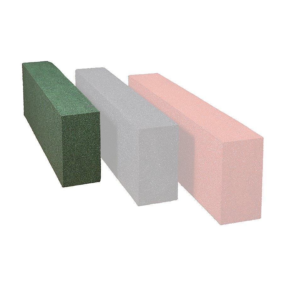 Zelený gumový dopadový obrubník OB5 FLOMA - délka 150 cm, šířka 15 cm a výška 30 cm