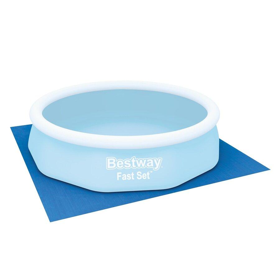 Modrá ochranná podložka pod bazén, vířivku Bestway - délka 335 cm a šířka 335 cm