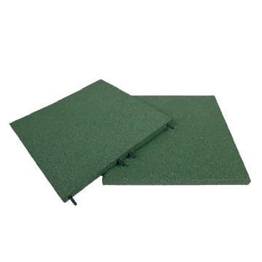 Zelená gumová dopadová dlaždice (V30/R00) FLOMA - délka 50 cm, šířka 50 cm a výška 3 cm
