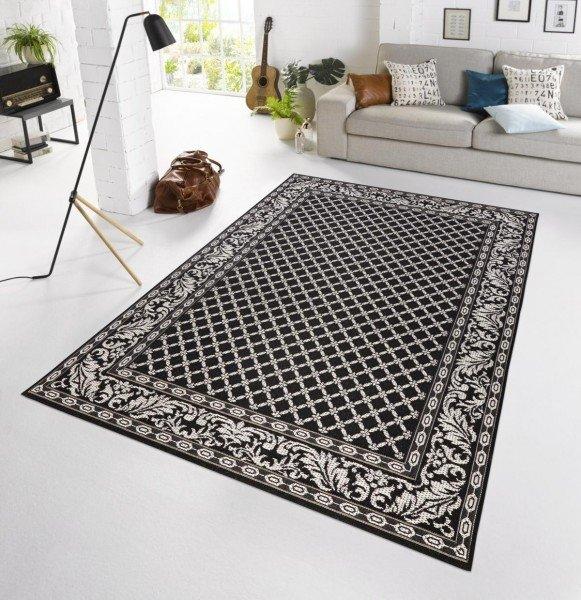 Černý kusový moderní koberec Botany - délka 230 cm a šířka 160 cm