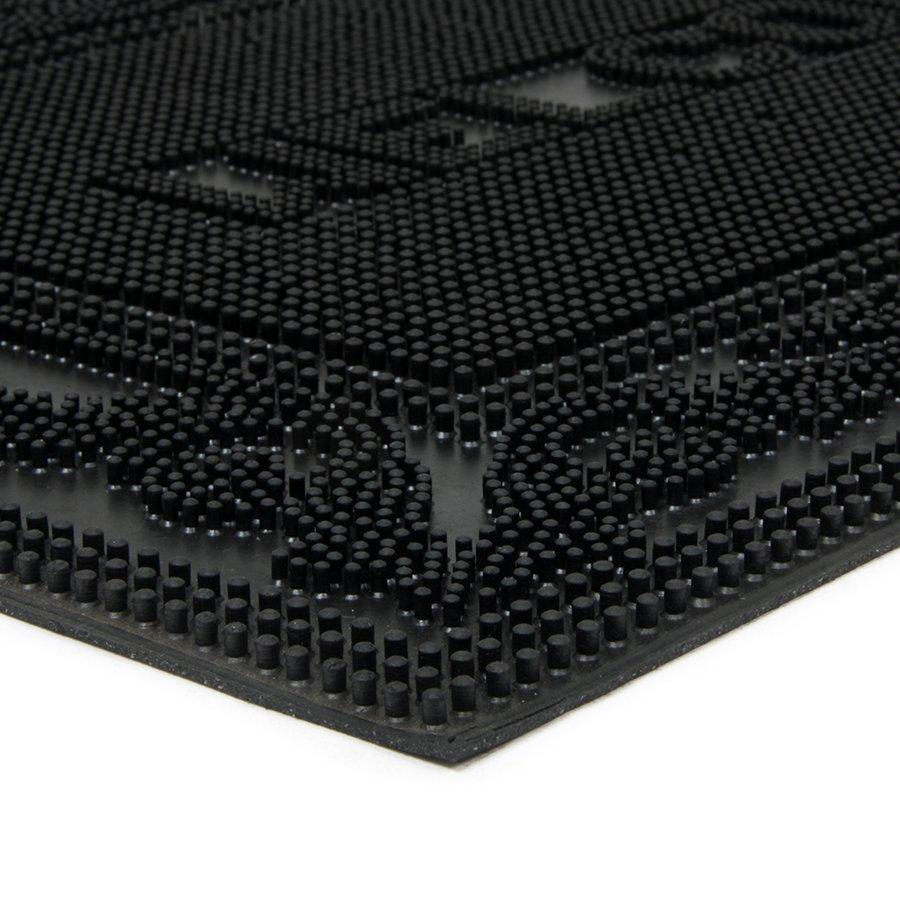 Gumová vstupní venkovní čistící rohož Welcome - Deco, FLOMA - délka 40 cm, šířka 60 cm a výška 0,7 cm