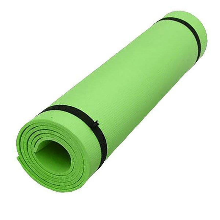 Zelená pěnová karimatka na cvičení - délka 173 cm, šířka 61 cm a výška 0,6 cm