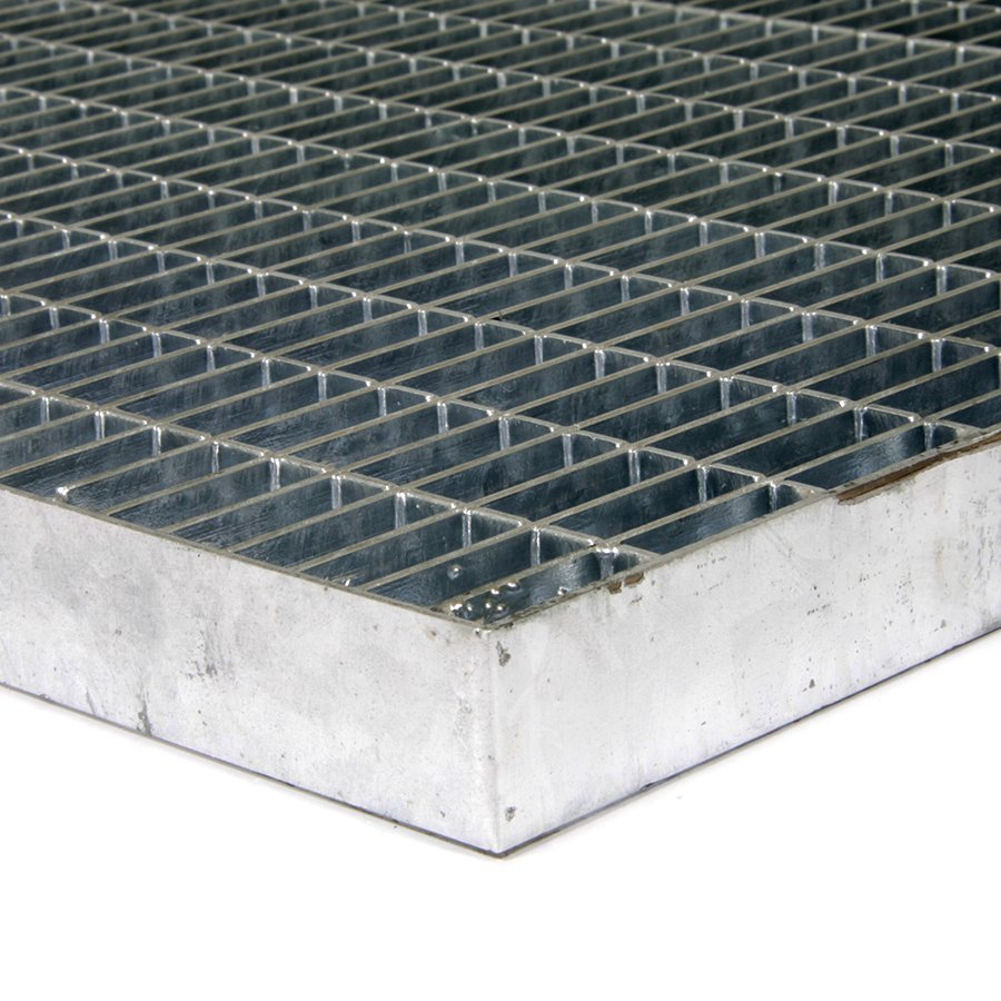 Kovová vstupní venkovní čistící rohož Grid, FLOMA - délka 40 cm, šířka 60 cm a výška 3 cm