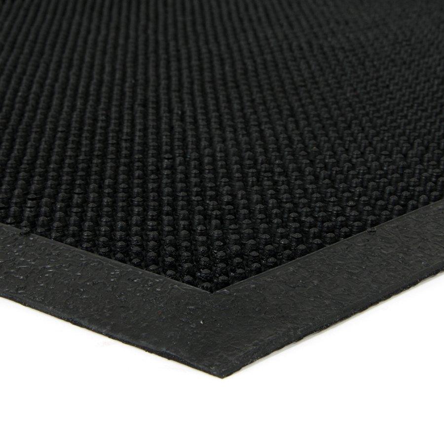 Gumová čistící venkovní vstupní rohož Rubber Brush, FLOMAT - délka 40 cm, šířka 60 cm a výška 0,8 cm