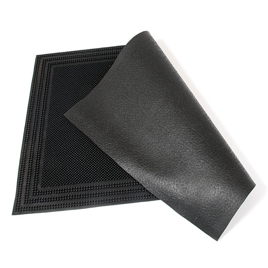 Gumová čistící venkovní vstupní rohož Welcome - Rectangle, FLOMA - délka 40 cm, šířka 60 cm a výška 0,7 cm