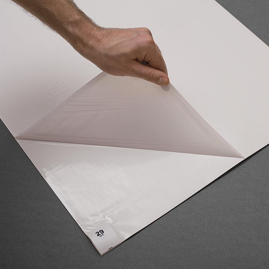 Bílá dezinfekční lepící antibakteriální dekontaminační rohož FLOMA Antibacterial Sticky Mat - šířka 115 cm - 30 listů