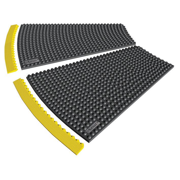 Černá gumová rohož (okraj) Skywalker HD o-Curve, ESD Nitrile FR - výška 1,3 cm