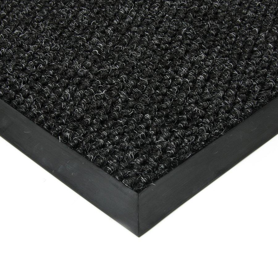 Černá textilní zátěžová čistící vnitřní vstupní rohož Fiona, FLOMA - délka 50 cm, šířka 80 cm a výška 1,1 cm