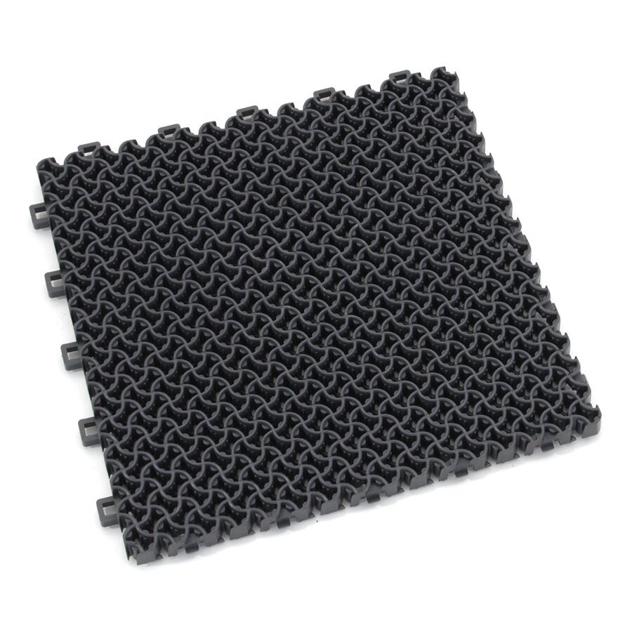 Šedá plastová zátěžová vstupní rohož Modular 9300 - délka 30 cm, šířka 30 cm a výška 1,75 cm