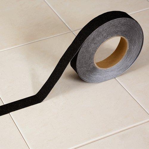 Černá korundová protiskluzová páska - délka 18 m a šířka 2,5 cm