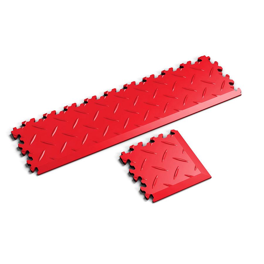 Nájezd a rohový nájezd pro plastové dlaždice Fortelock - verze Industry nebo Light - dezén diamant.