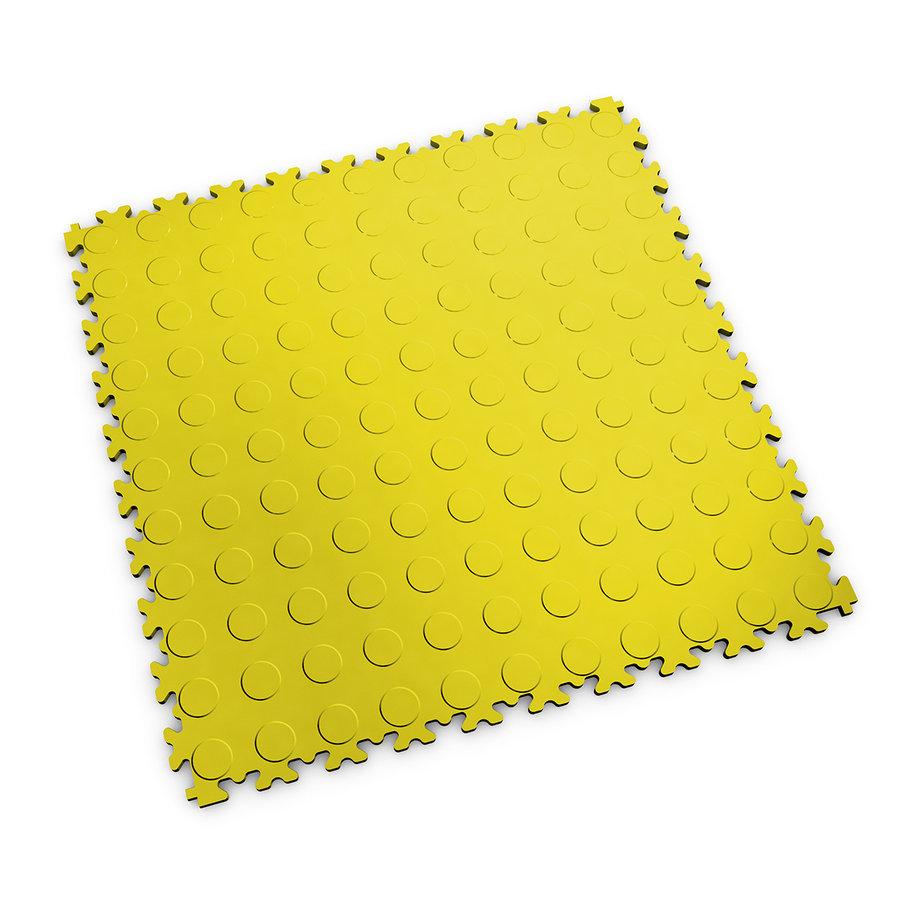 Plastová dlaždice Fortelock Industry nebo Light - žlutá barva, dezén penízky.