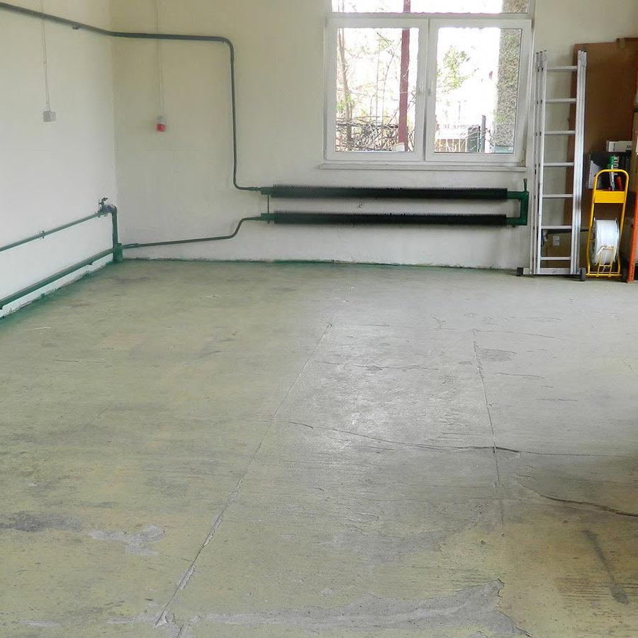 Plastové dlaždice Fortelock - prostory před pokládkou nové podlahy.