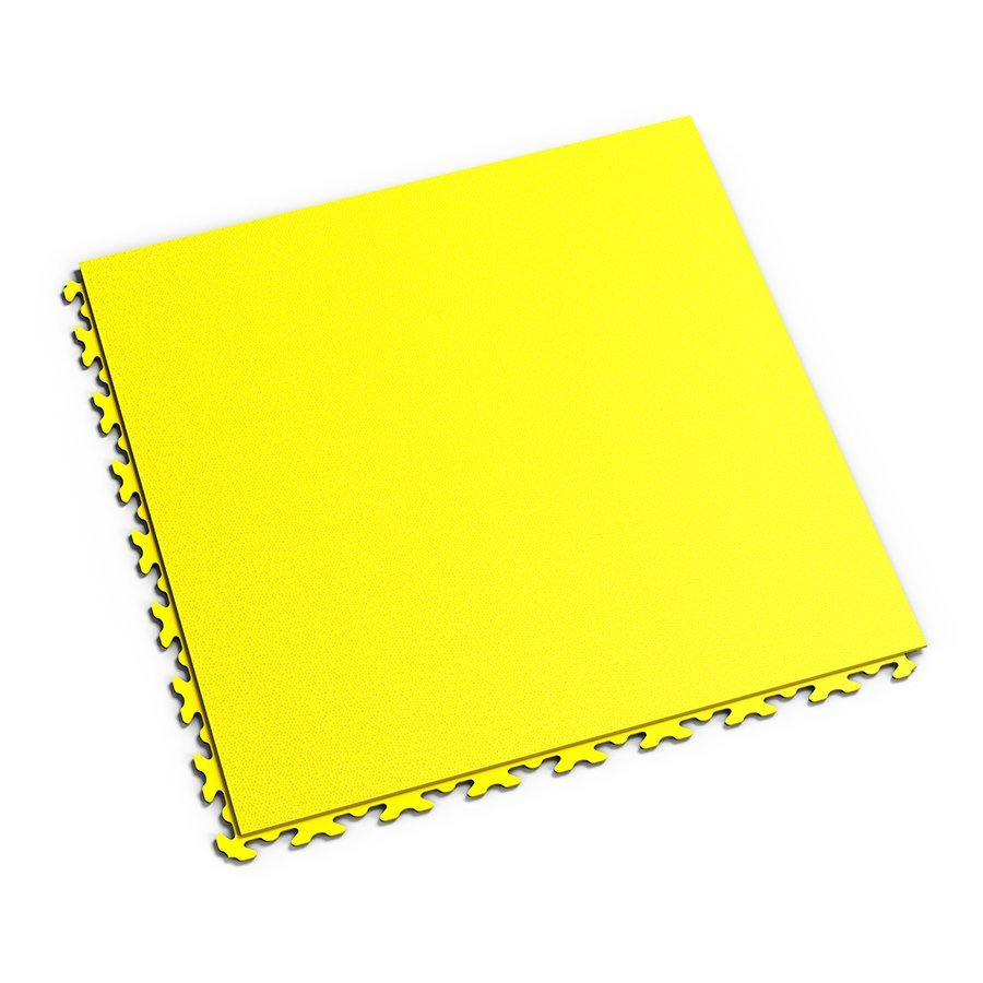 Plastová dlaždice Fortelock Invisible - žlutá barva, dezén hadí kůže.