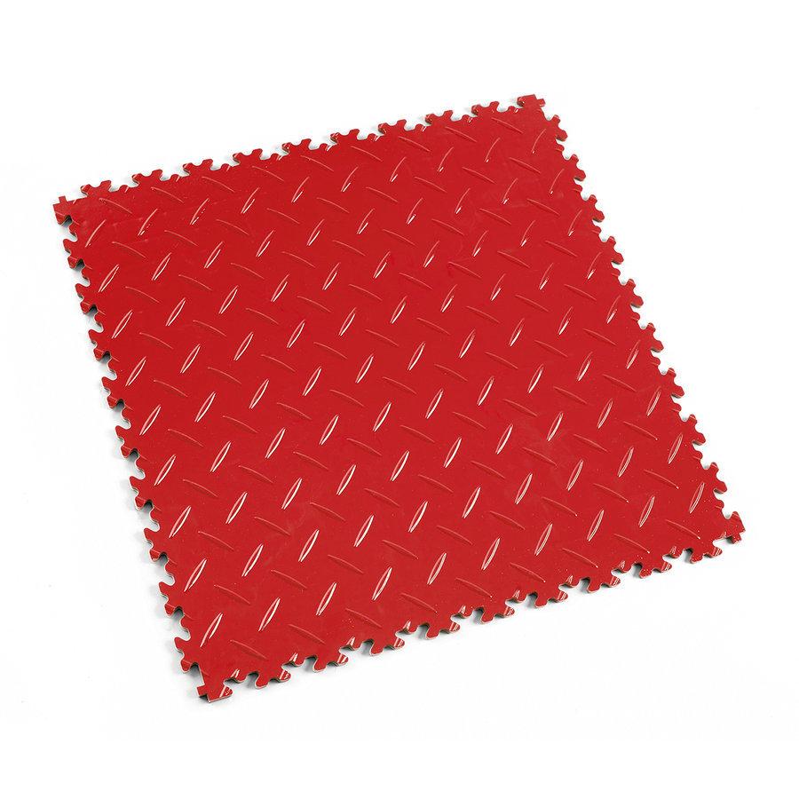 Plastová dlaždice Fortelock Industry nebo Light - červená barva, dezén diamant.