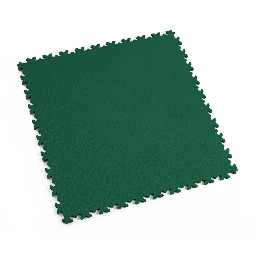 Plastová dlaždice Fortelock Industry nebo Light - zelená barva, dezén kůže.