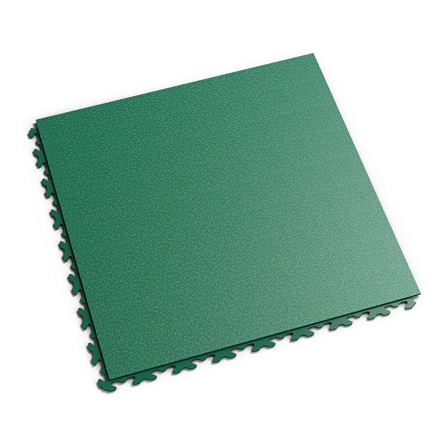Plastová dlaždice Fortelock Invisible - zelená barva, dezén hadí kůže.