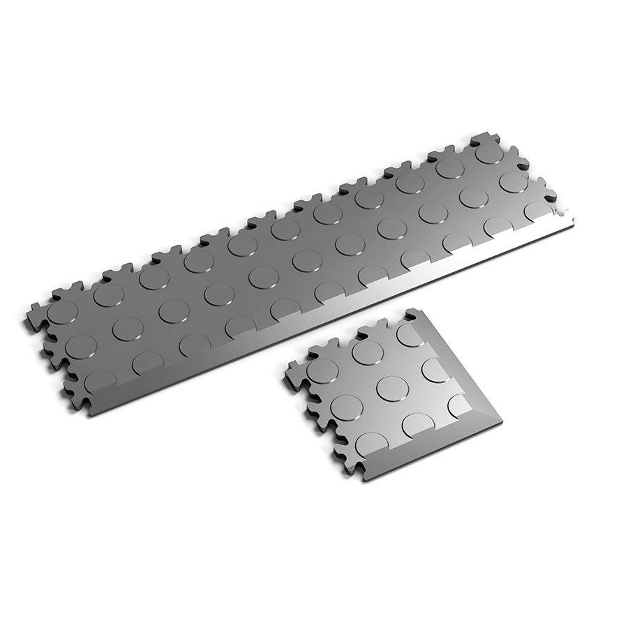 Nájezd a rohový nájezd pro plastové dlaždice Fortelock - verze Industry nebo Light - dezén penízky.